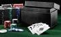 Coffret cuir poker